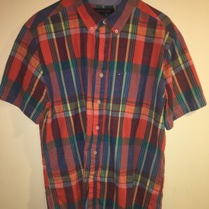Large Tommy Hilfiger Short Sleeve Button Down